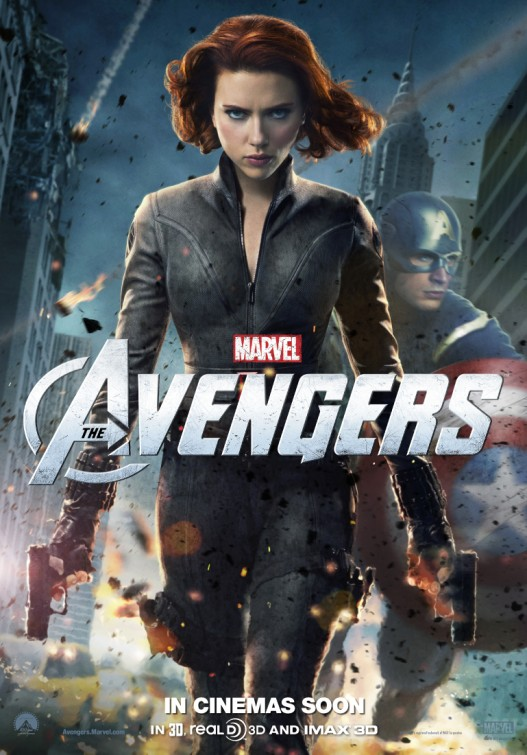 scarlett johanssen chris evans hot new marvel's avengers individual character poster promo the black widow captain america rare