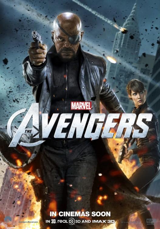 samuel l jackson new marvel's avengers individual character poster promo nick fury rare