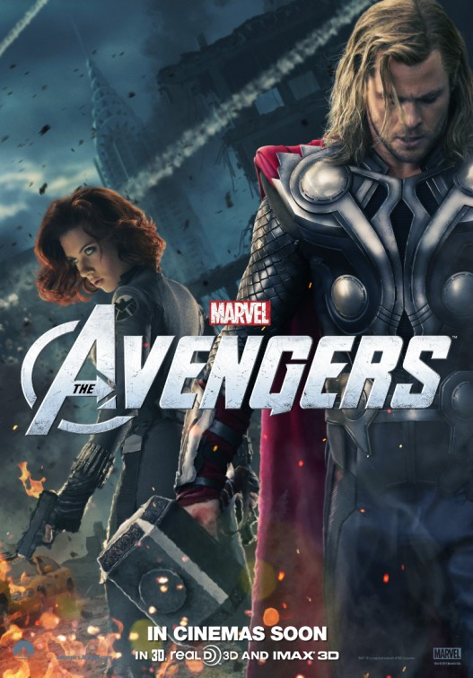 scarlet johansen chris evans hot new marvel's avengers individual character poster promo thor black widow rare