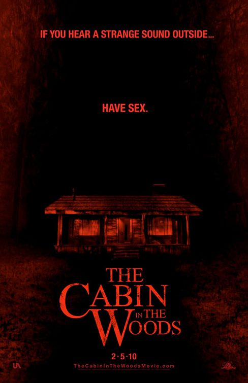 cabin_in_the_woods rare teaser one sheet movie poster promo rare joss whedon buffy the vampire slayer press promo