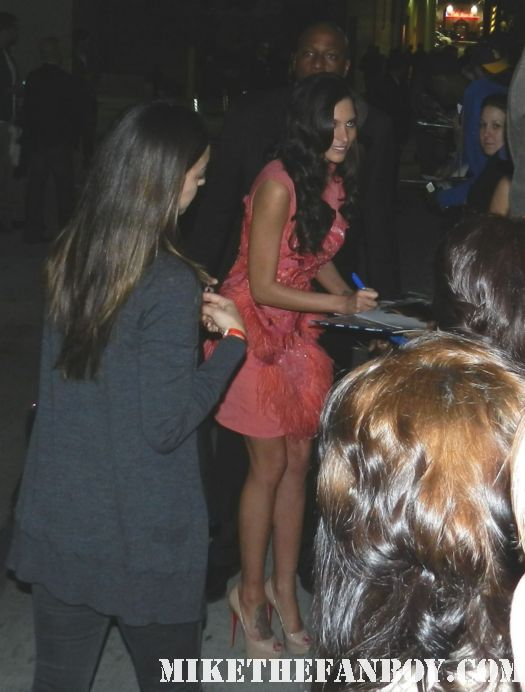 Genesis Rodriguez signing autographs for fans looking hot and sexy rare promo photo shoot promo casa de mi padre