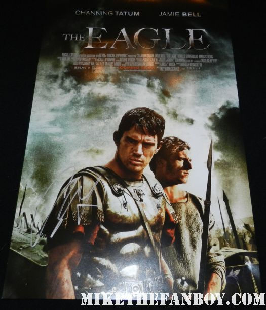 channing tatum signed autograph the eagle mini movie poster promo hot sexy gladiator shirtless hot promo jamie bell