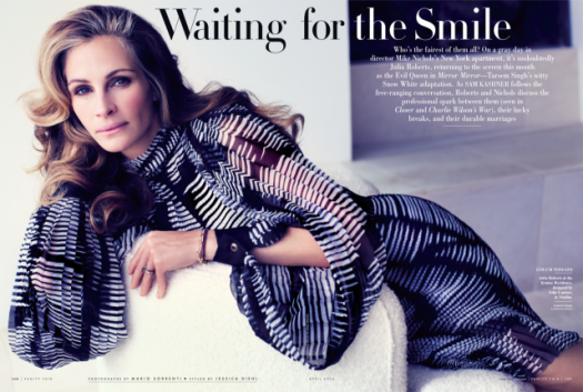 Julia-Roberts-Pictures-Vanity-Fair-April-2012 Julia robert vanity fair magazine cover march 2012 sexy hot rare pretty woman star steel magnolias