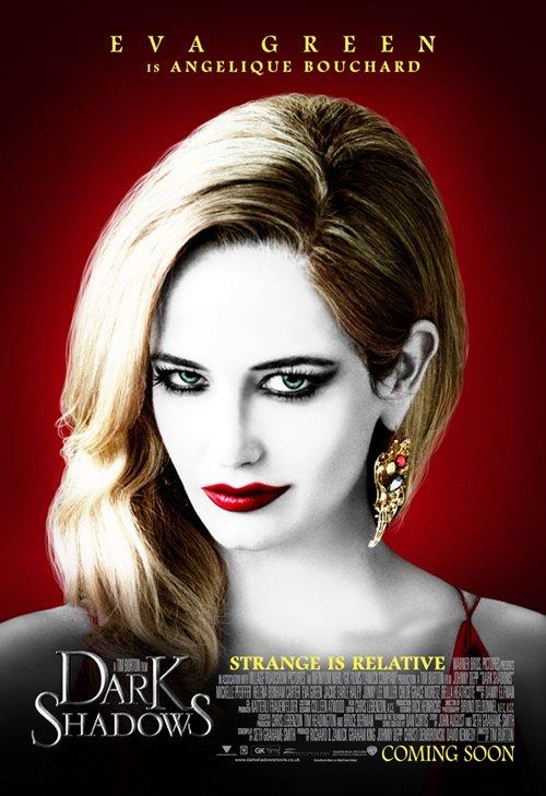 dark-shadows eva green Angelique Bouchard individual movie poster pop art promo rare hot sexy vampire witch