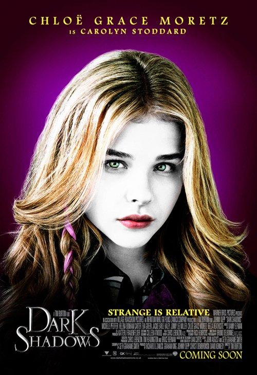 dark-shadows- Chloë Grace Moretz  Carolyn Stoddard rare individual promo movie poster hot sexy dark shadows vampire gothic tim burton