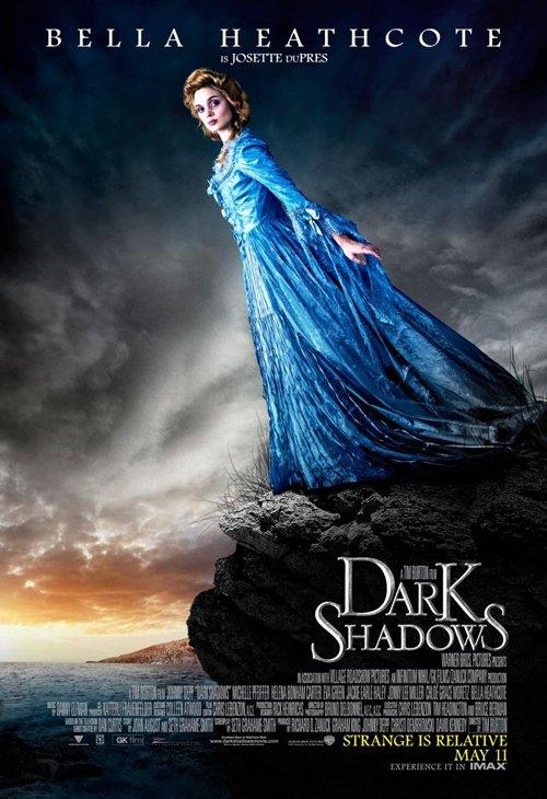 dark-shadows-full-032812- (1) Bella Heathcote rare promo individual dark shadows one sheet movie poster tim burton
