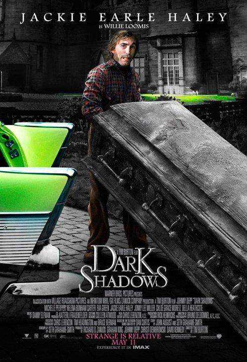 dark-shadows-full-032812- (2) Jackie Earle Haley rare individual promo one sheet movie poster promo dark shadows rare