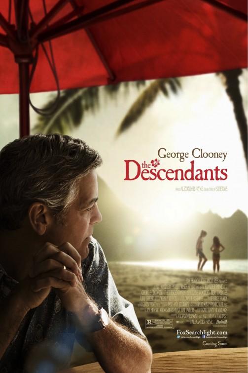 descendants rare one sheet movie poster promo george clooney matthew lillard