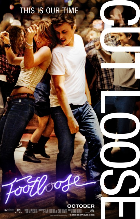 footloose_ver3 rare one sheet movie poster promo kenny wormland hot sexy dance flick kevin bacon
