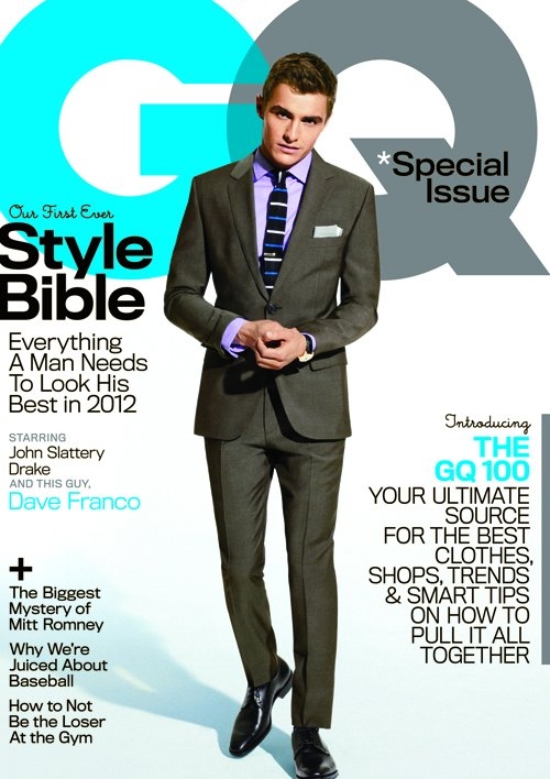 dave franco sexy and hot on the cover of gq magazine april 2012 syle bible issue fright night