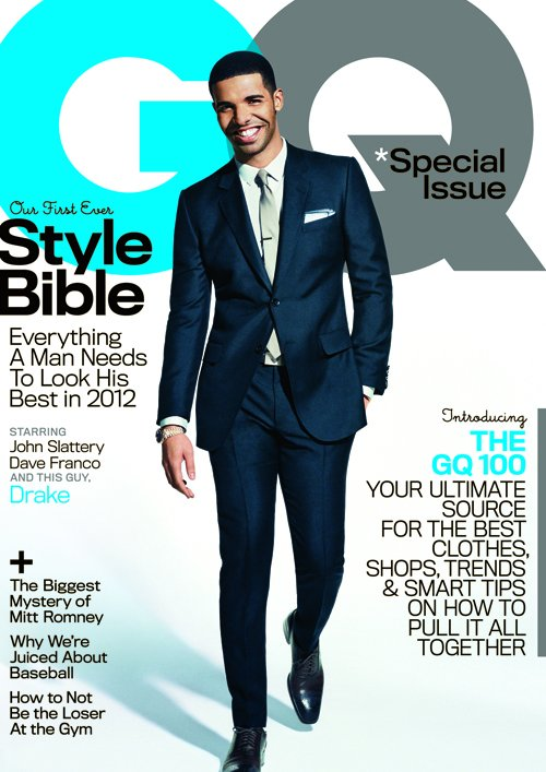 drake sexy and hot on the cover of gq magazine april 2012 syle bible issue fright night