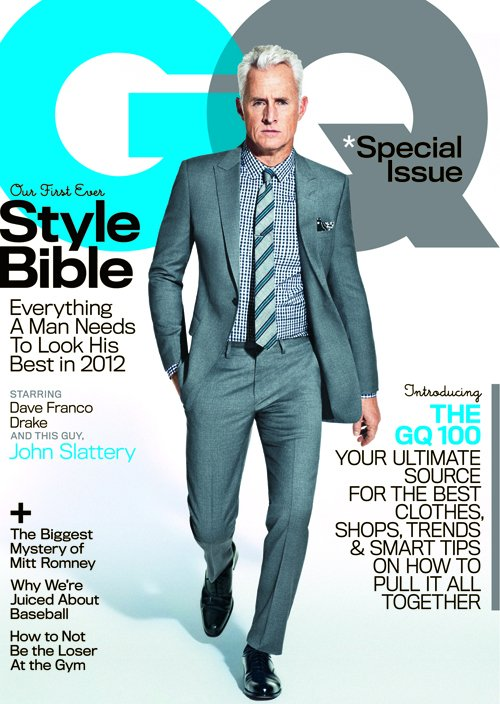 mad men star john slattery sexy and hot on the cover of gq magazine april 2012 syle bible issue fright night