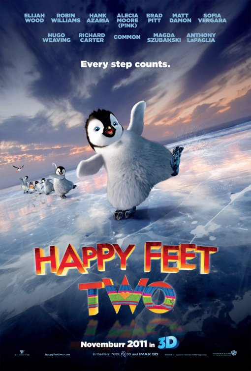happy_feet_two rare promo one sheet movie poster cute penguins rare happy feet 2 pink
