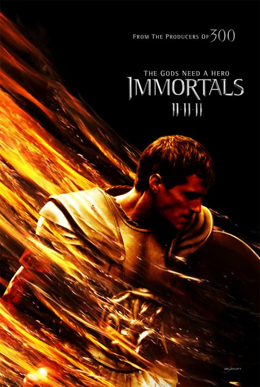 immortals rare one sheet movie poster henry cavill new superman hot sexy shirtless rare promo naked hot rare