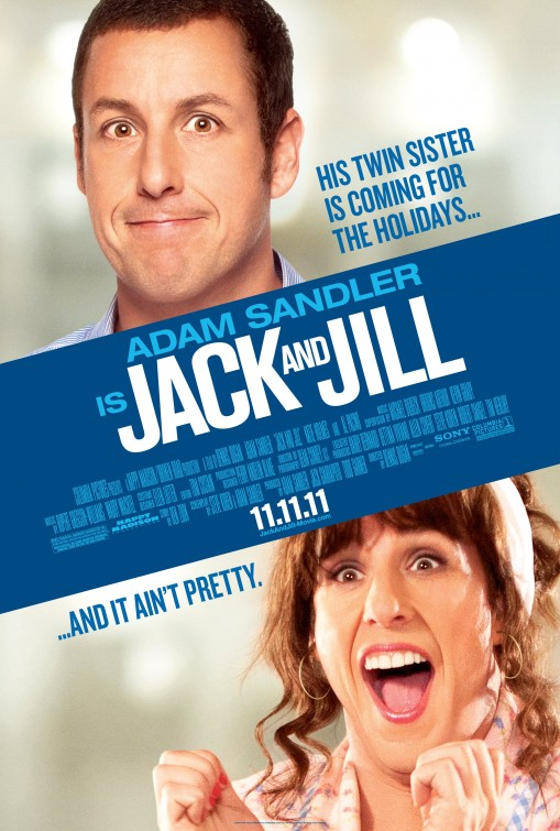 jack_and_jill rare promo one sheet movie poster adam sandler drag queen cross dressing comedy