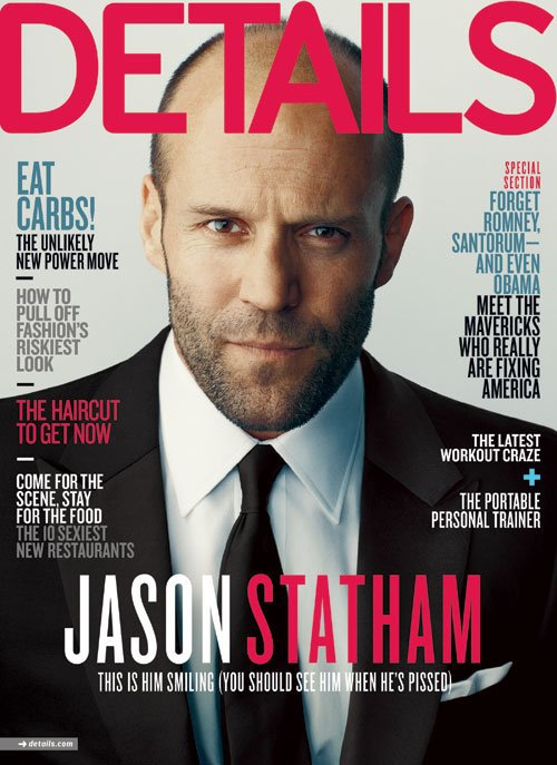 jason-statham-details-april-2012 rare magazine cover promo hot sexy action transporter star suit tie sexy magazine cover
