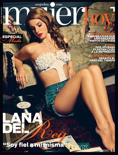 lana-del-rey-mujer-hoy magazine rare promo hot and sexy photo shoot promo latina magazine spanish rare video games singer
