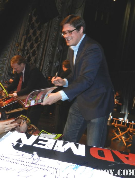 rich sommer, jared harris signing autographs for fans at the 2012 paleyfest mad men panel rare promo hot sexy