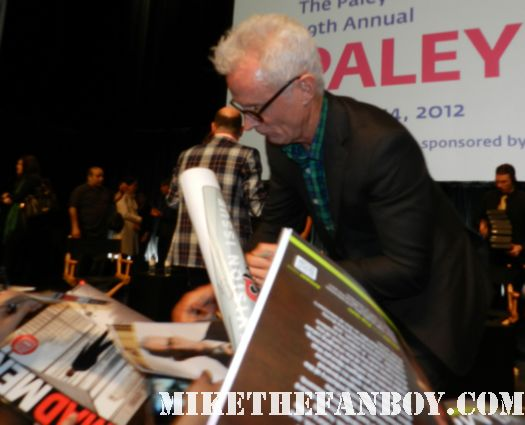 john slattery signing autographs for fans at the 2012 paleyfest mad men panel rare promo hot sexy
