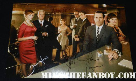 jon hamm john slattery january jones jared harris signed autograph season 4 rare promo poster cast photo