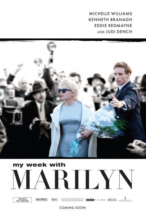 my_week_with_marilyn michelle williams rare promo one sheet movie poster oscar nominated