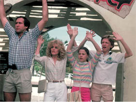 national lampoons vacation promo press still chevy chase beverly d'angelo national lampoon's christmas vacation cast photo with beverly d'angelo chevy chase press still rare juliette lewis johnny galecki