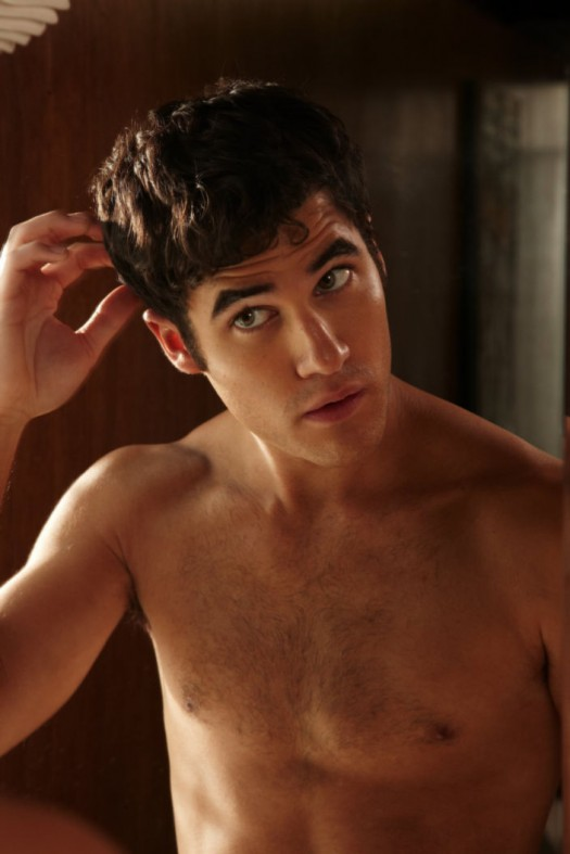 darren criss hot sexy shirtless naked rare promo photo shoot glee blaine gay rare frat boy muscle abs pecs naked underwear