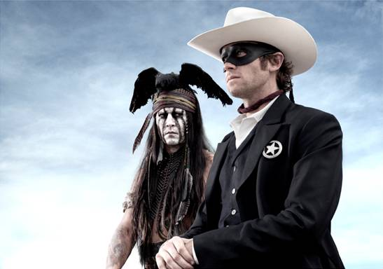 the lone ranger disney new promo press still armie hammer johnny depp as tonto rare promo
