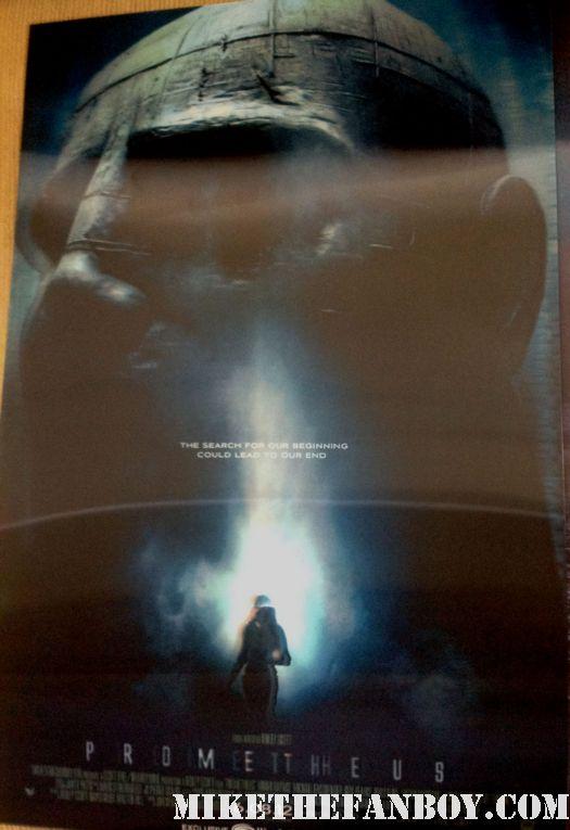prometheus rare lenticular mini movie poster promo wondercon 2012 swag ridley scott poster
