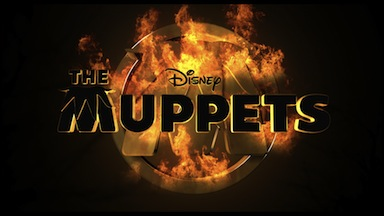 the muppets hunger games trilogy trailer promo graphic art disney jim henson jason segel rare promo