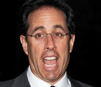 jerry seinfeld rare press promo still with his mouth open at a charity event rare television promo
