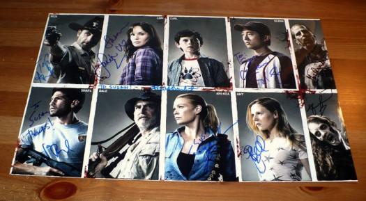 the walking dead cast signed autograph cast photo season 1 rare andrew lincoln hot promo rare