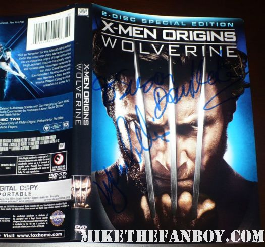 danny houston signed autograph wolverine blu ray dvd cover hugh jackman x men rare promo