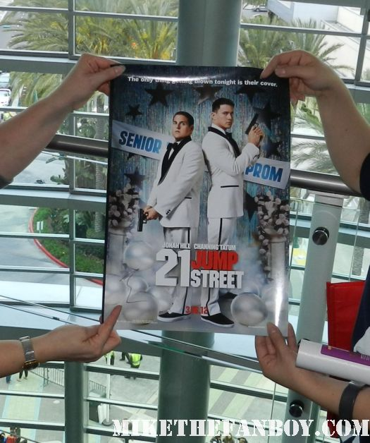 21 jumpstreet movie poster signed by academy award nominee jonah hill with sexy channing tatum