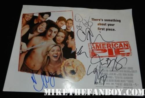 american pie rare promo uk quad mini movie poster signed autograph alyson hannigan jason biggs chris klein seann william scott thomas ian nichols mena suvari rare promo