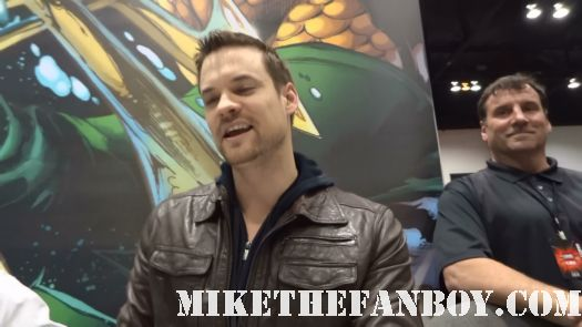 nikita signing with shane west and creator Craig Silverstein from Nikita signing autographs for fans at c2e2 chicago comic con shane west signing hot sexy star