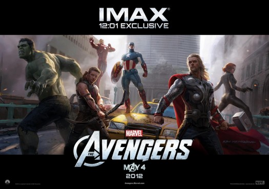 the avengers limited edition 12:01 limited edition art poster promo iron man captain america black widow the hulk thor hawkeye