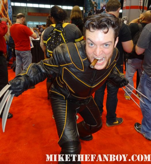 wolverine cosplayer at c2e2 chicago comic con rare young baby dressed up like thor at c2e2 cosplay rare promo marvel booth c2e2 chicago comic con rare baby cosplay