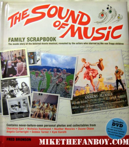 The Sound of Music Family Scrap Book rare promo book jacket signed autograph by the kids from the sound of music