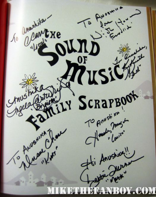 the von trapp kids signed autograph sound of music scrapbook Liesl (Charmian Carr), Louisa (Heather Menzies-Urich), Friedrich (Nicholas Hammond), Kurt (Duane Chase), Brigitta (Angela Cartwright), Marta (Debbie Turner), and last but not least, Gretl (Kym Karath)