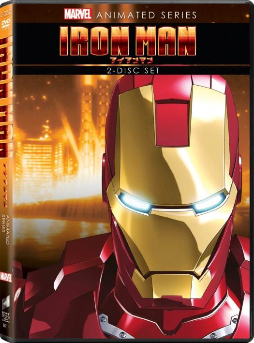 Iron Man DVD animated marvel anime rare promo animated series box cover art press rare tony stark