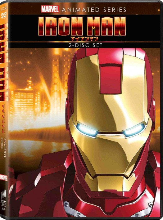 Iron Man anime Marvel DVD rare press promo cover art rare marvel anime on dvd