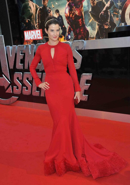 Marvel Avengers Assemble - European Premiere - Inside Arrivals colbie smulders poses on the red carpet sexy hot rare how I met your mother
