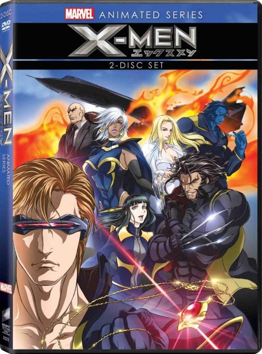 Marvel_X_men_DVD animated series anime rare promo wolverine cyclops press promo cover art