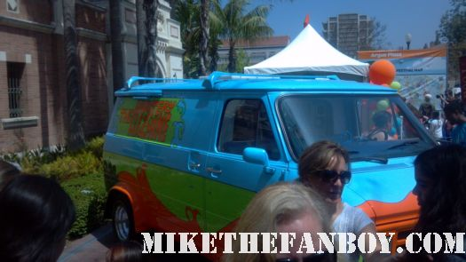 Mystery Machine at the los angeles times festival of books scooby doo mystery machine original prop van