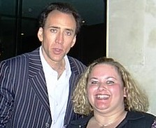 pretty in pinky posing for a fan photo with nicholas cage in las vegas rare event hot sexy leaving las vegas valley girl star