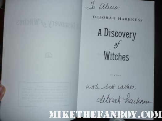 deborah harkness signed autograph book a discovery of witches rare promo novel book rare los angeles times festival of books 2012 hot