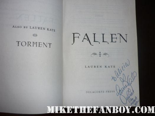 lauren kate signed autograph fallen book novel rare los angeles times festival of books signing autographs