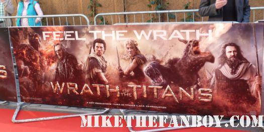 wrath of the titans uk london movie premiere rare signed autograph sam worthington
