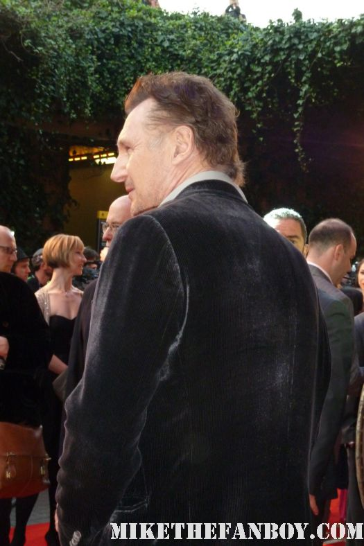 liam neeson on the red carpet of the wrath of the titans london movie premiere rare promo battleship